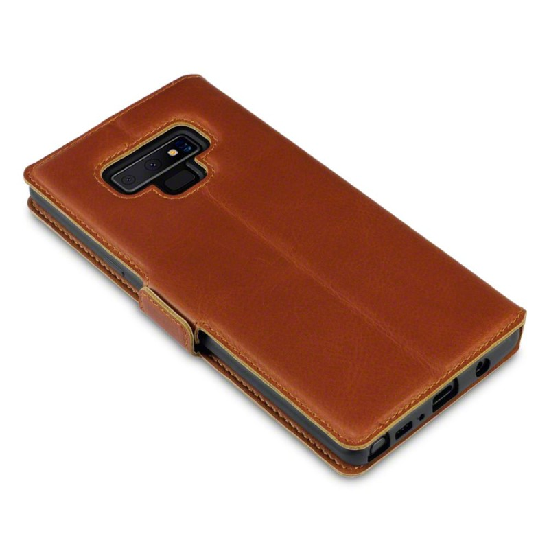 Samsung Note 9 Low Profile Genuine Leather Wallet Case