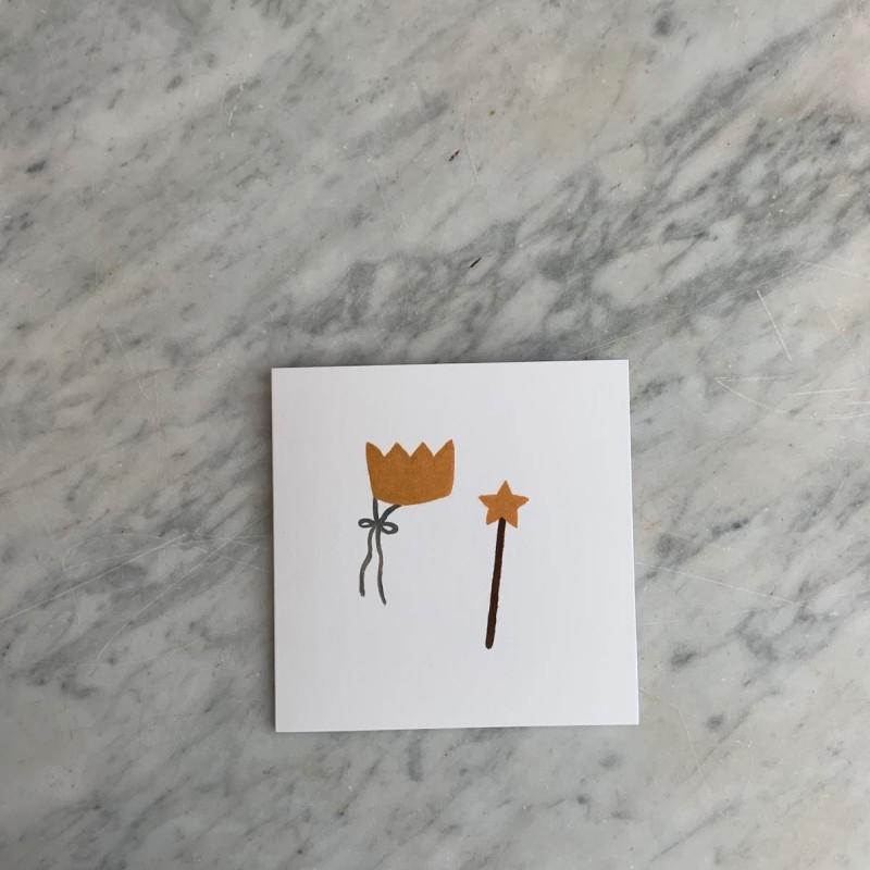 Kort Krone og stav