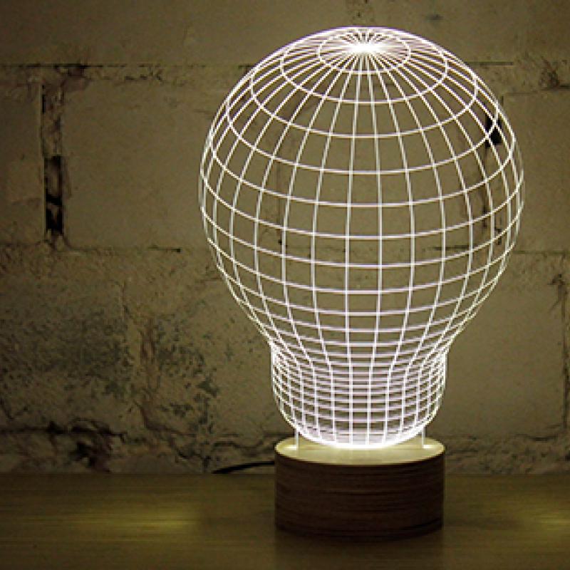 Ledljuslampa Bulb 3D
