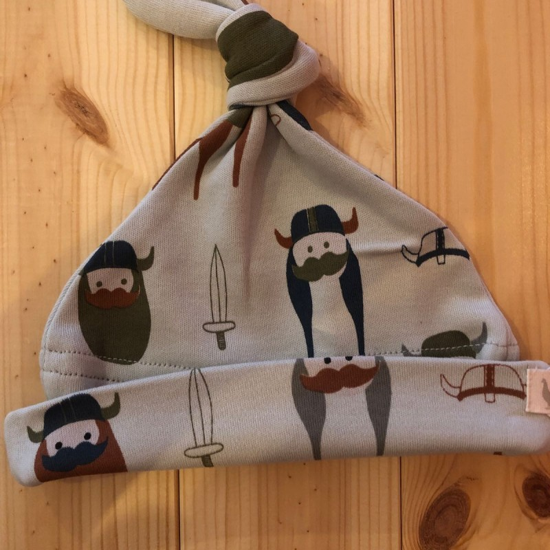 Pigeon- Knotted hat (print), vikings on grey