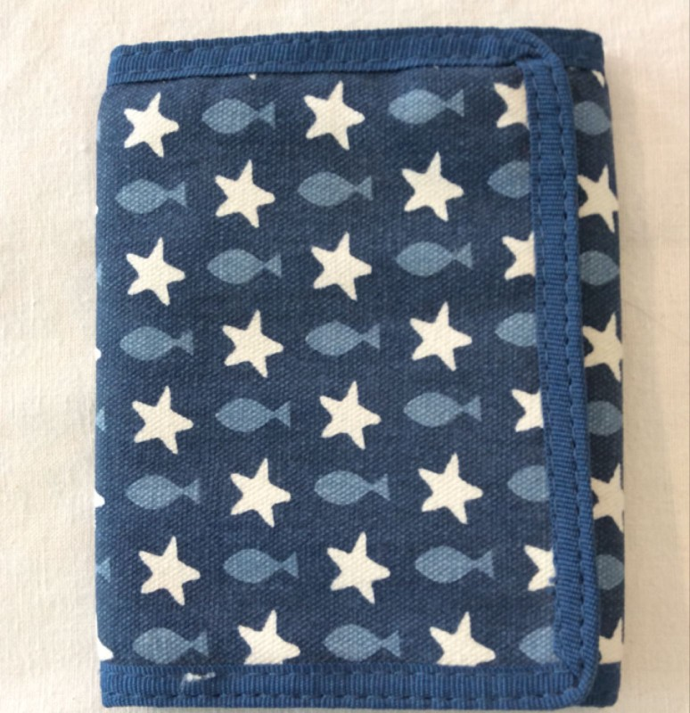 Fish and stars wallet