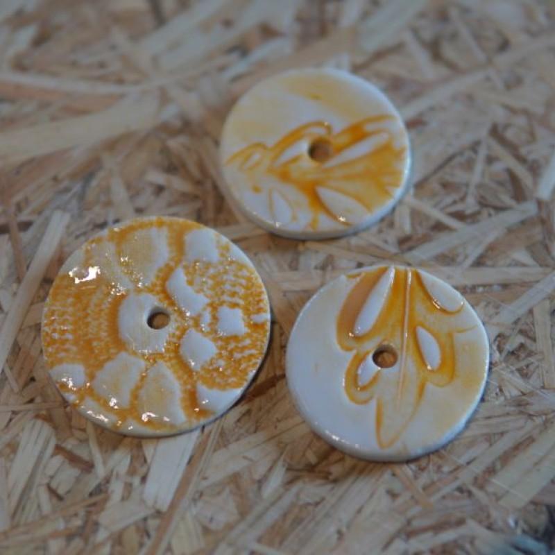 Keramik knapper - Assorteret