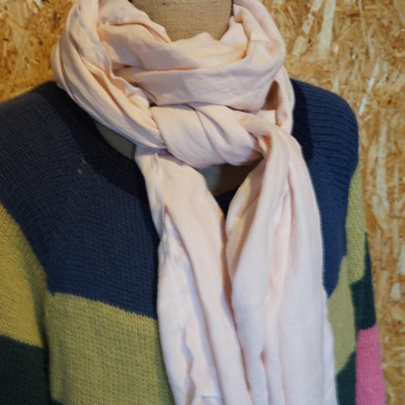 Sart lyserød tørklæde