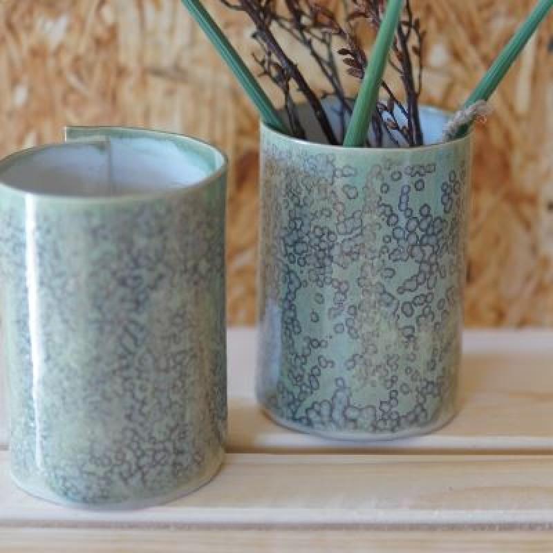 Grønne keramik vaser
