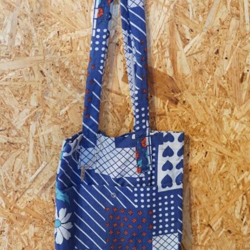 Lille Blå mulepose, lange hanke