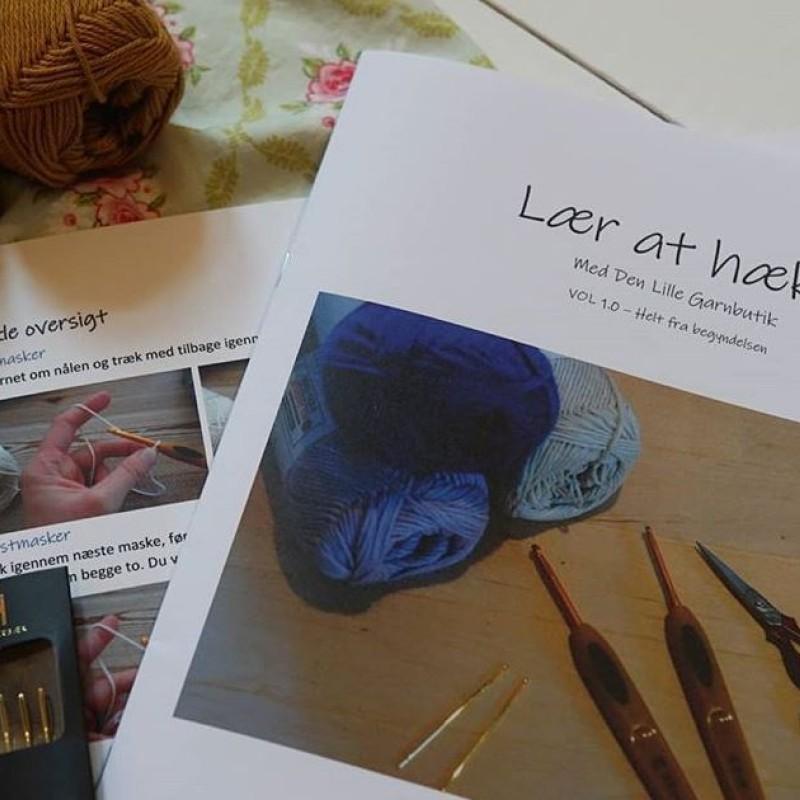 Lær at Hækle hæfte + Hækleoversigt