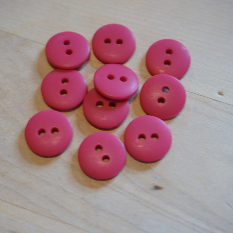 Små plast knapper pink