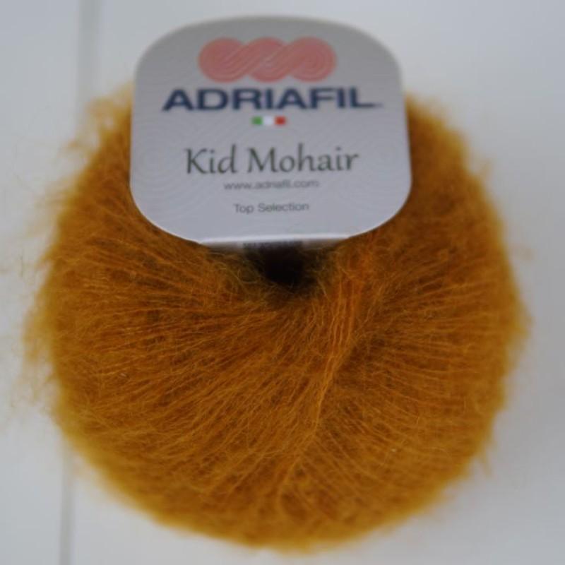 Brændt orange - Kid Mohair