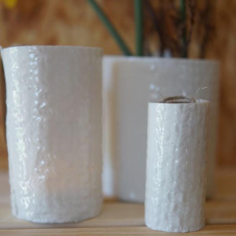 Hvide keramik vaser