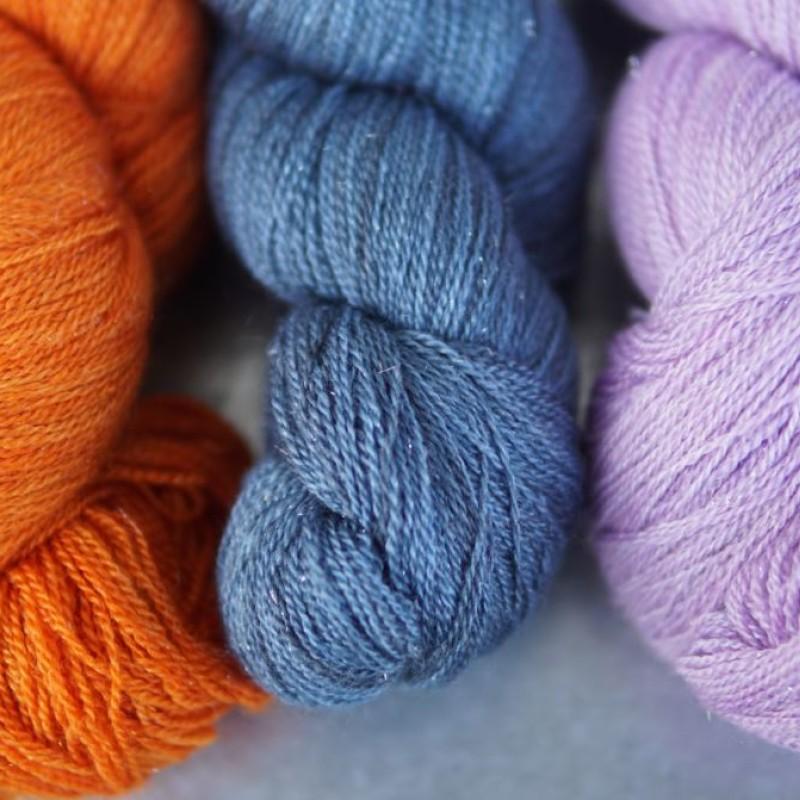 Glitzy Merino silk lace