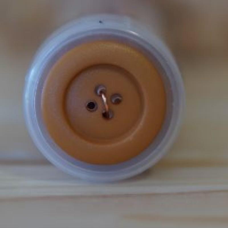 Stor brun knap - 2 størrelser