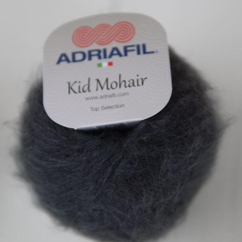 Grå / Blå - Kid Mohair