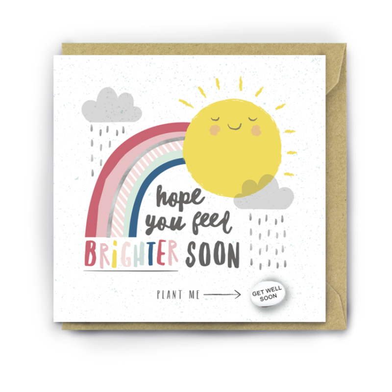 HOPE YOU FEEL BRIGHTER SOON Card by Lucy and Lolly