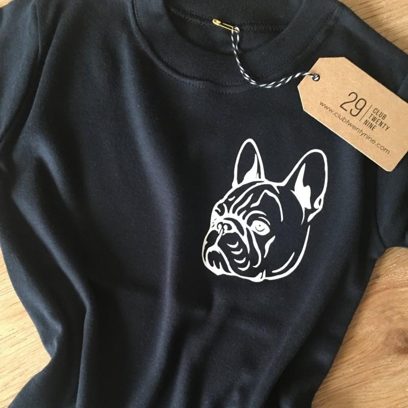 Frenchie Black  T-shirt by Club Twenty Nine