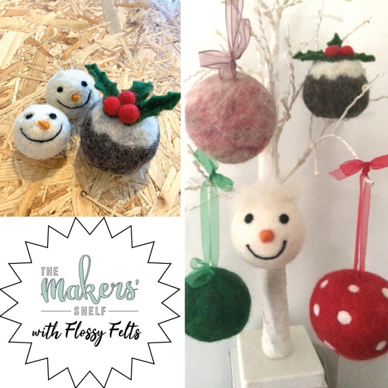 Saturday 7th December (Morning) - Needle Felted Christmas Decoration - 2 Hour Workshop