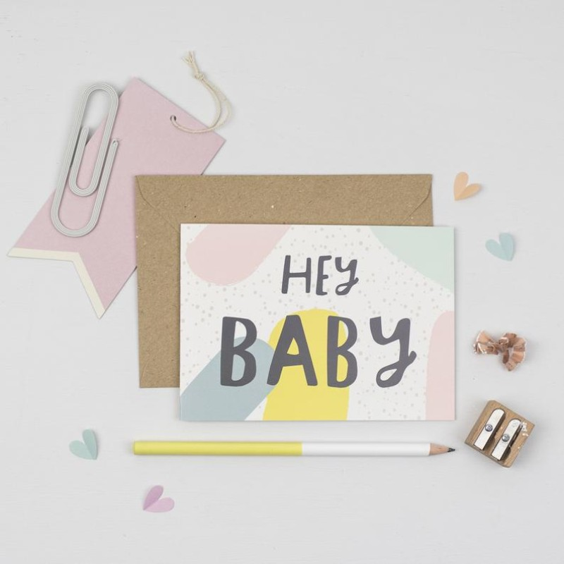 Hey Baby card by Dainty Forest