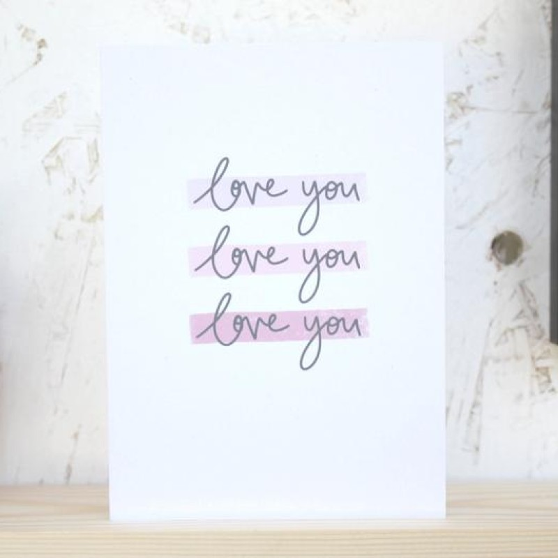 Love you  card by Daphne Rosa