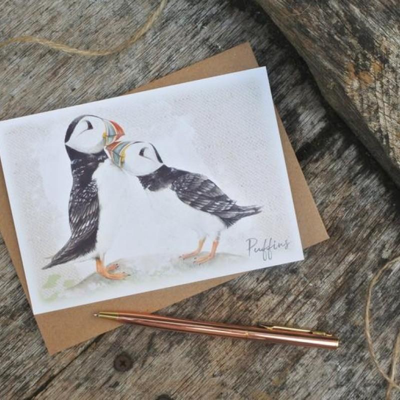 Puffin Postcard By Miss Meaney's
