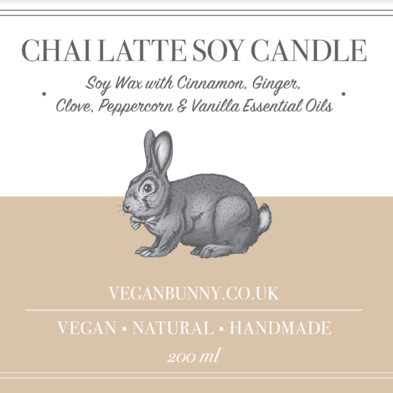 Chai Latte Soy Candle by Vegan Bunny