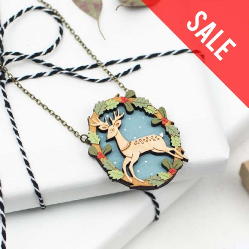 SALE Leaping Deer Necklace by Layla Amber