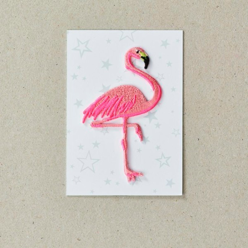 Flamingo Iron on Patch By Petra Boase