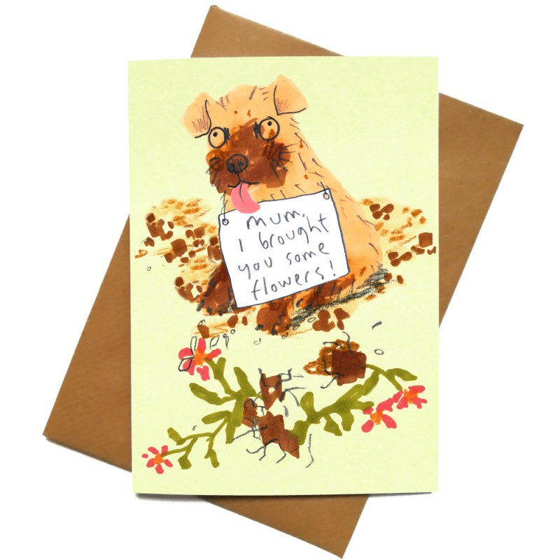 Mum I brought You Some Flowers Card by Jo Clark Design