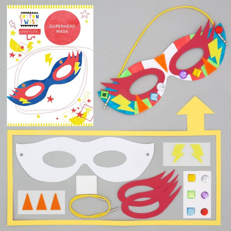 MAKE YOUR OWN SUPERHERO MASK by Cotton Twist