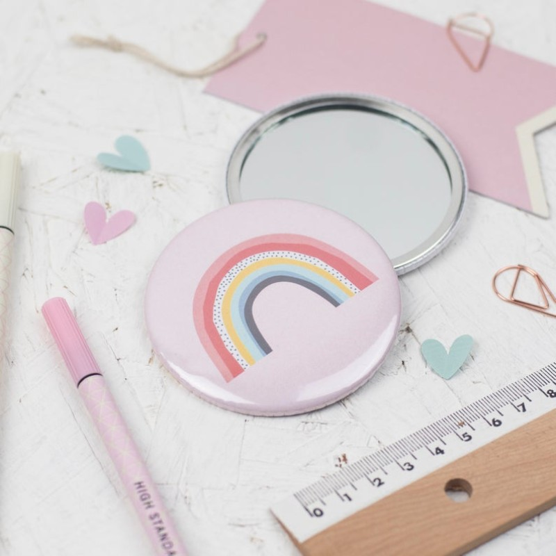 Rainbow pocket mirror by Dainty Forest