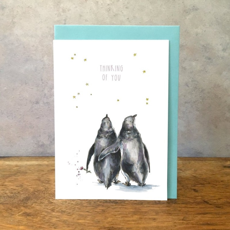 Thinking of You Penguins Card by Snowtap