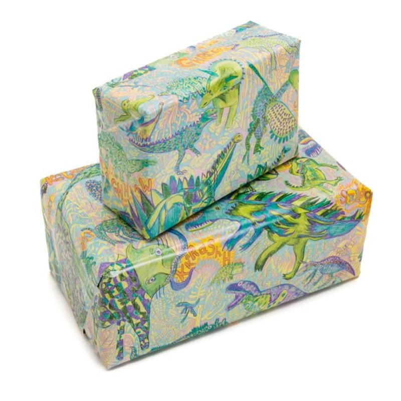Dinosaur Wrapping Paper by Arthouse