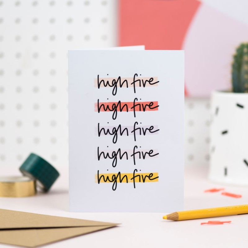 High five Card by Daphne Rosa