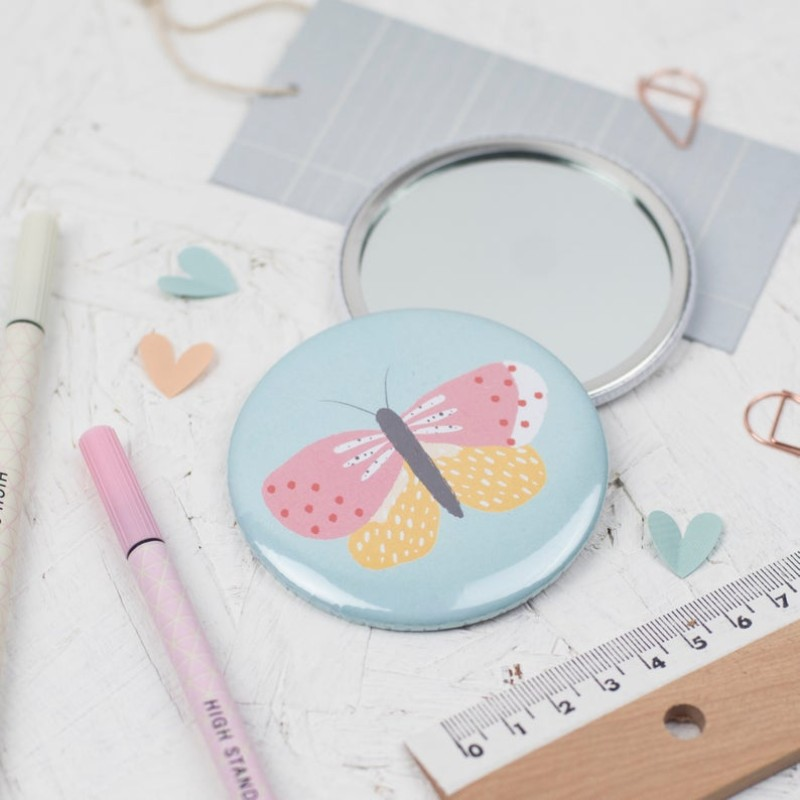 Butterfly pocket mirror by Dainty Forest