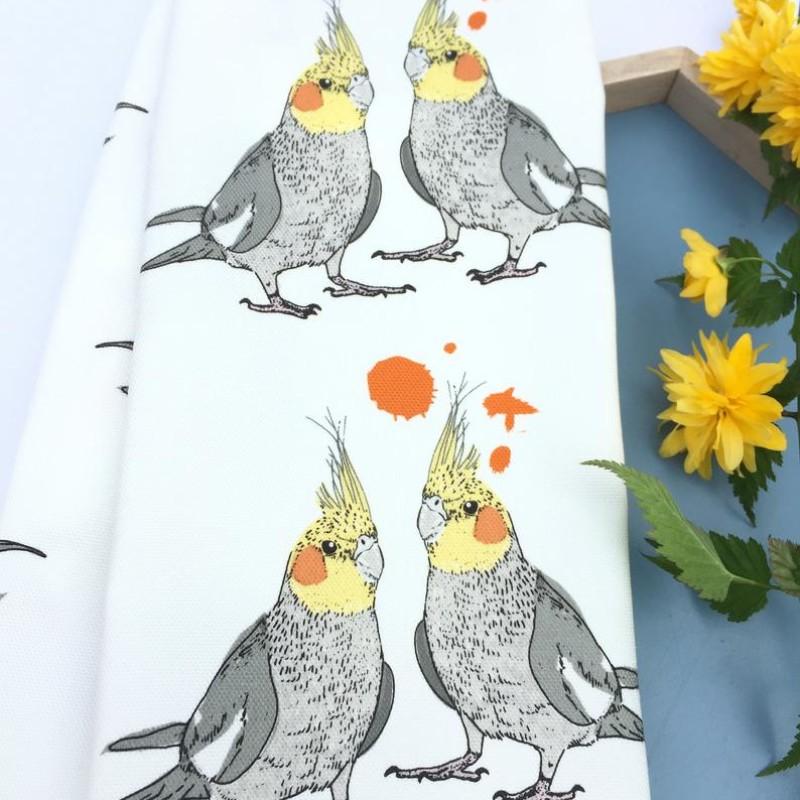 Cockatiel Tea Towel by OhHelloShan