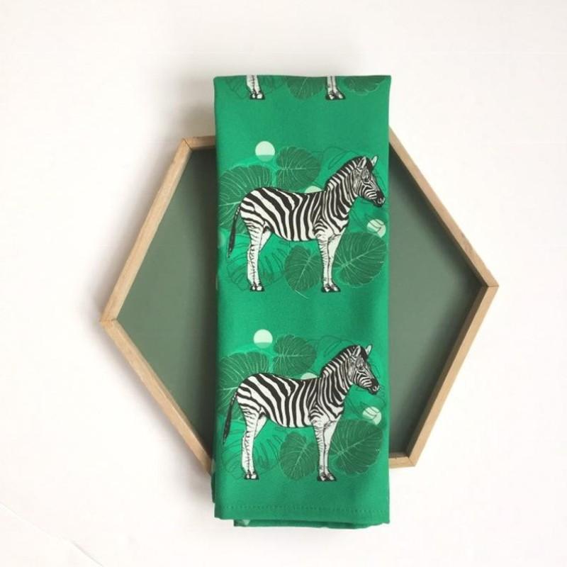 Zebra Tea Towel by OhHelloShan