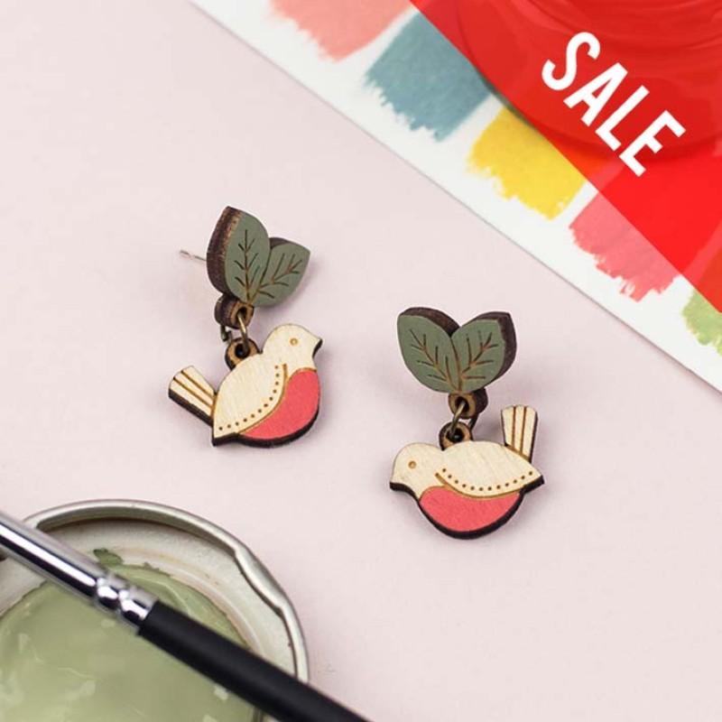 SALE Red Robin Drop Stud Earrings by Layla Amber