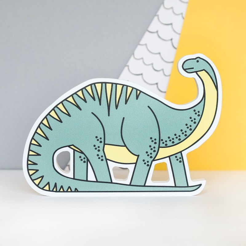 Diplodicus Dinosaur Decoration by Bowler Bear Designs
