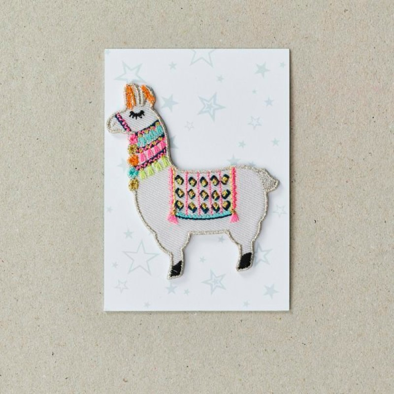 Llama Iron on Patch By Petra Boase
