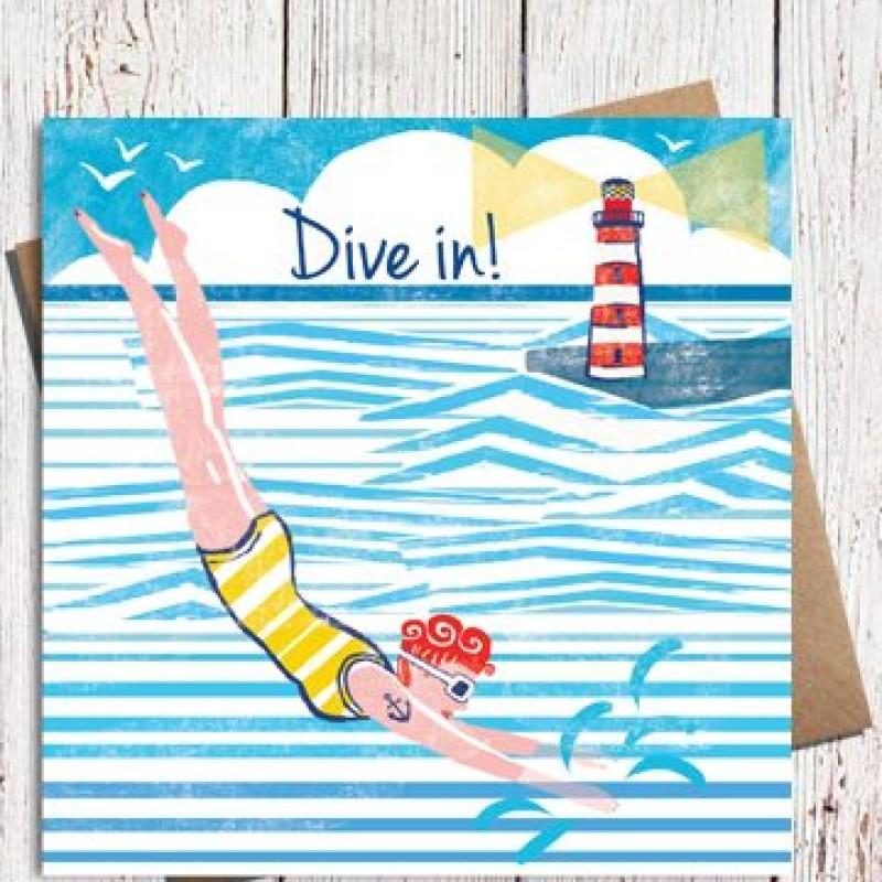 Dive In! Card by Lou Mills (NAU9)