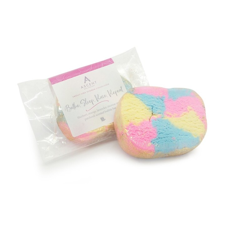 Bathe, Sleep, Rave, Repeat Bubble Bar by Ascent
