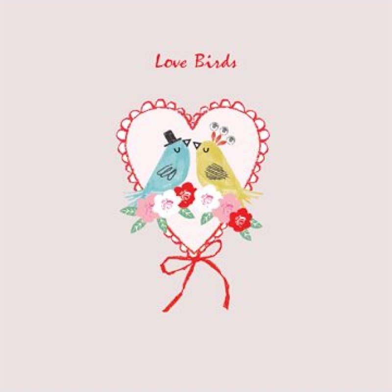 Love Birds Wedding/Engagement Card by Lou Mills (HH3)