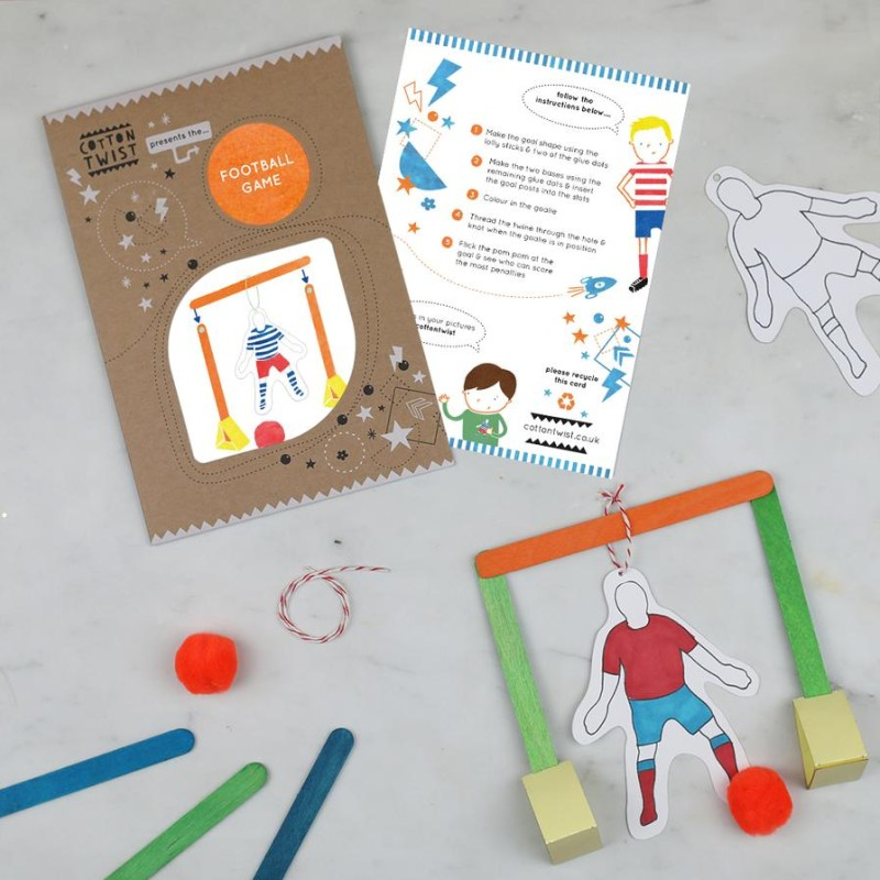 MAKE YOUR OWN FOOTBALL GAME KIT by Cotton Twist