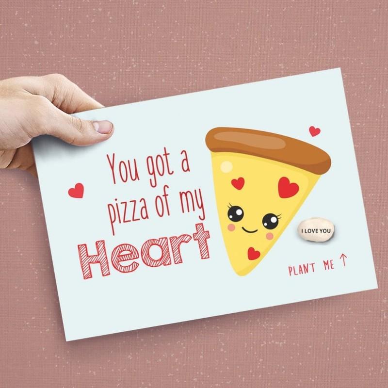 Pizza my Heart Valentines Day Card By Lucy and Lolly