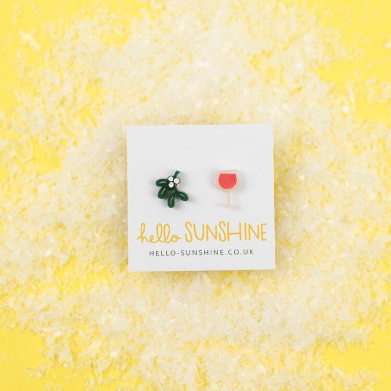 Mistletoe and Wine earrings by Hello Sunshine