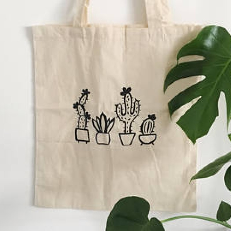 Cactus Tote Bag by Lottie Illustration