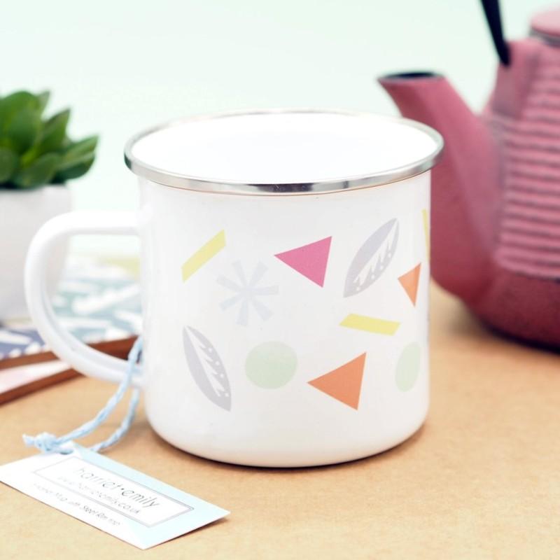Patterned Enamel Mug by Harriet Emily