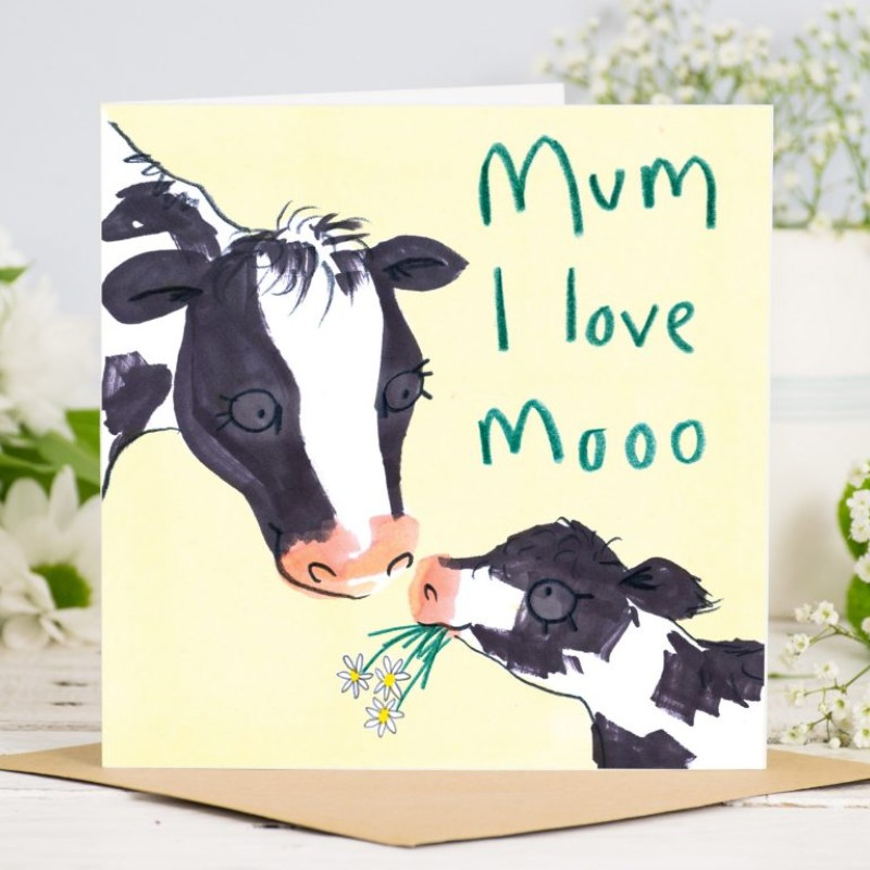 Mum, I love Moo  Card by Jo Clark Design