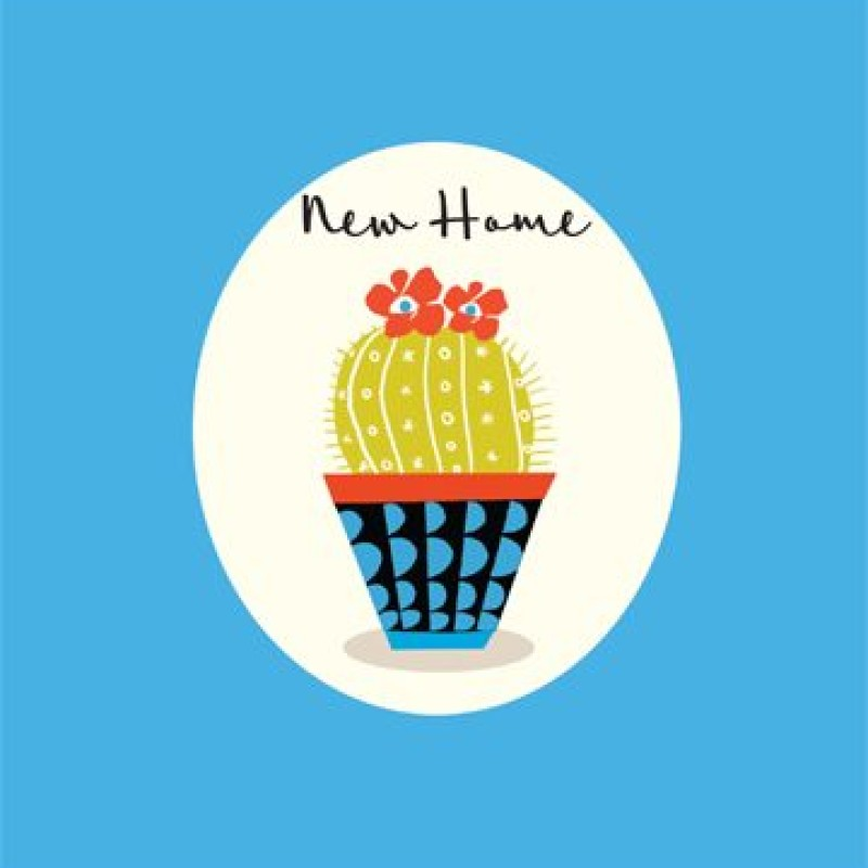 New Home Cactus Card by Lou Mills (CP11)