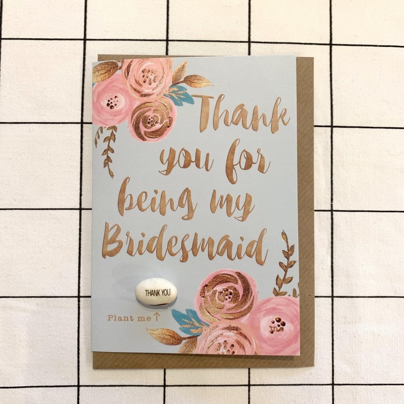 Thank You For Being My Bridesmaid Card by Lucy and Lolly