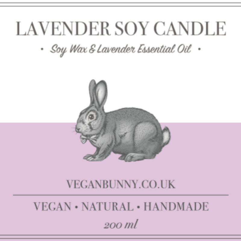 Lavender Soy Candle by Vegan Bunny