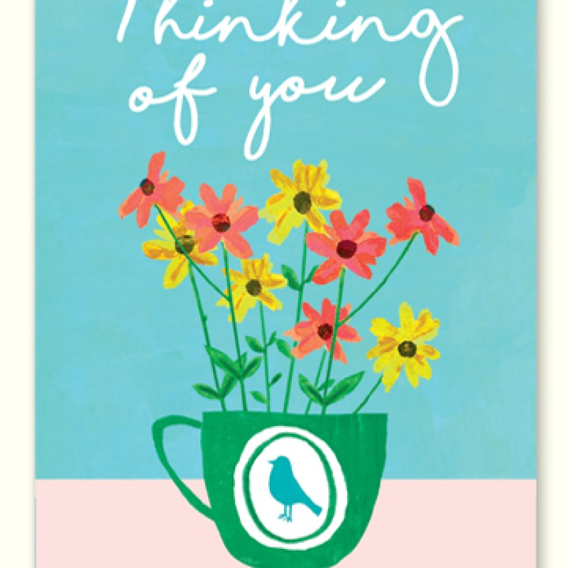 Thinking Of You Card by Lou Mills (LIL13)